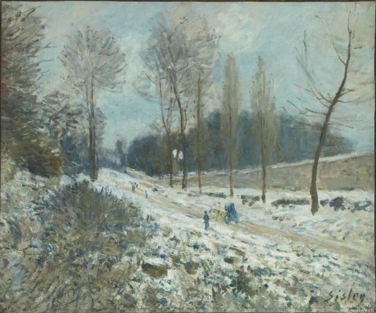 <코트 뒤 쾨르, 눈 내린 마를리 지방의 풍경 (La Côte du Coeur, Volant à Marly sous la neige)<-알프레드 시슬레(Alfred Sisley)
