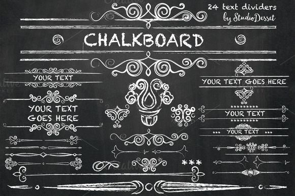 Chalkboard - Text Dividers by StudioDesset on @creativemarket