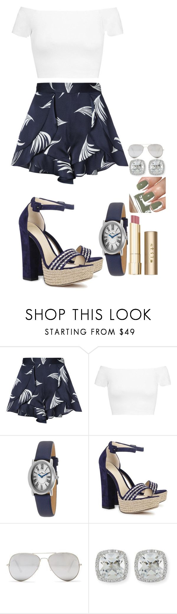 """Untitled #1703"" by social-outcast-16 ❤ liked on Polyvore featuring C/MEO COLLECTIVE, Alice + Olivia, Lucien Piccard, Alexandre Birman, Sunny Rebel, Frederic Sage, Chanel and Stila"