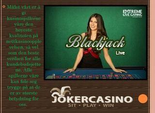 Casinospill, joker, kasino bonuser  Så Joker Casino är det bästa onlinekasinot i dagsläget med de mest otroliga bonusarna, jackpottarna, det högsta antalet och det bredaste utbudet av kasinospel, inklusive ett live online-kasino med riktiga live-dealers och mycket mer.  https://www.jokercasino.com/no/