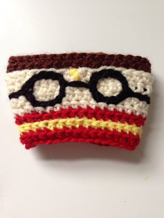 Harry Potter Crocheted Coffee Cozy on Etsy -- OMGosh!!!! I desperately NEED this!!!!