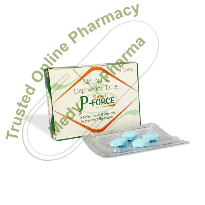 Buy Super P Force Tablet Super P-Force is a combination medication containing Sildenafil Citrate 100 mg and Dapoxetine Hydrochloride 60 mg which is used to treat premature ejaculation (PE) and erectile dysfunction (ED) in men 18 to 64 years old. Sildenafil Citrate is in a class of medications called phosphodiesterase type 5 (PDE5) inhibitors.   #buycheapsuperp-force #buysuperpforceonline #buysuperpforceuk #buyviagrasuperpforce #cheapsuperpforceuk #cheapestsuperpforce #ciali