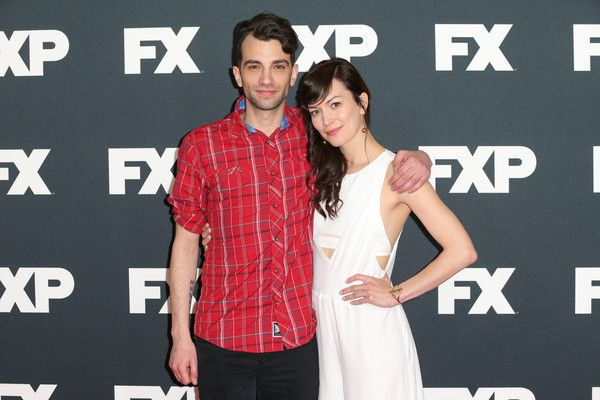 Britt Lower Photos Photos - Actor Jay Baruchel (L) and actress Britt Lower attend the FX TCA Winter Press Tour Panel at Langham Hotel on January 16, 2016 in Pasadena, California. - FX TCA Winter Press Tour Panel