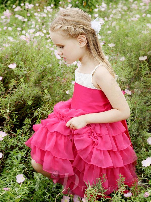 Little Girls Performance Dress Flower Princess Dress