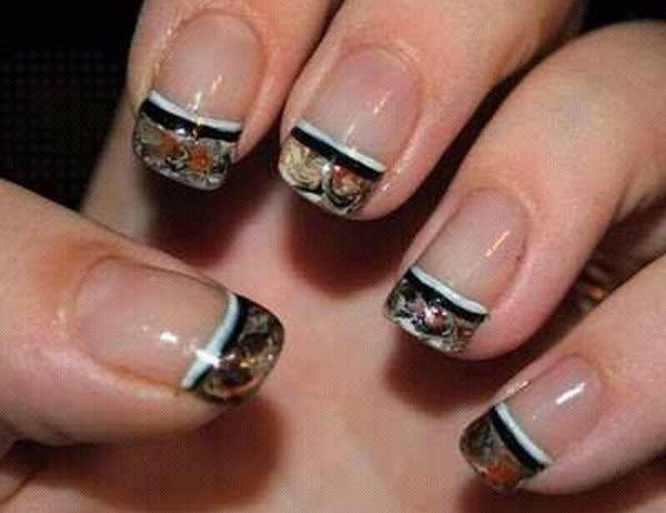 Camouflage Tips Nail Design