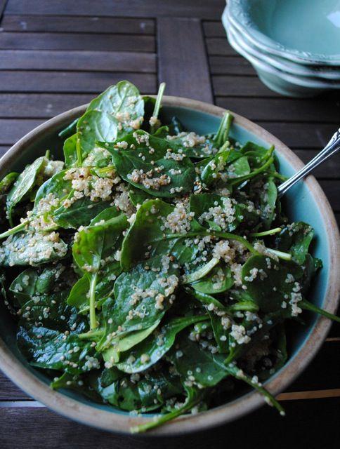 Spinach and Quinoa Salad: Food Recipes, Lemon Soy Vinaigrette, Spinach Salad, Lemon Vinaigrette, Food Salad, Favorite Recipes, Lemon Quinoa Salad Spinach,  Flowerpot, Spinach Quinoa