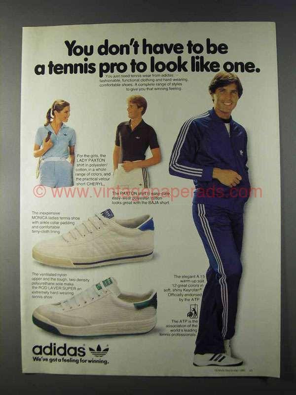 1980 Adidas Ad Monica & Rod Laver Super Tennis Shoe