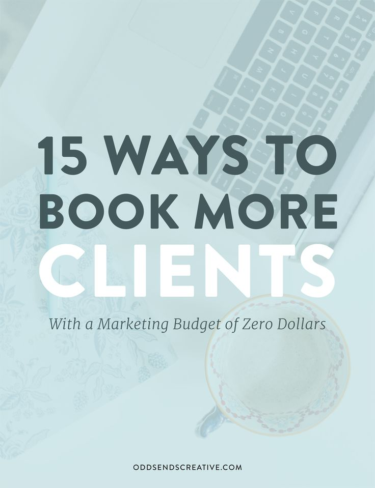 INTERESTING. Learn how to book more clients for your creative business when you don't have a lot of money (or any) to spend on marketing. You can connect with your dream client and land that booking by spending nothing at all. For Creative Entrepreneurs / Solopreneurs. Sign up to the Odds + Ends email list to get your copy: http://eepurl.com/bzmJgH