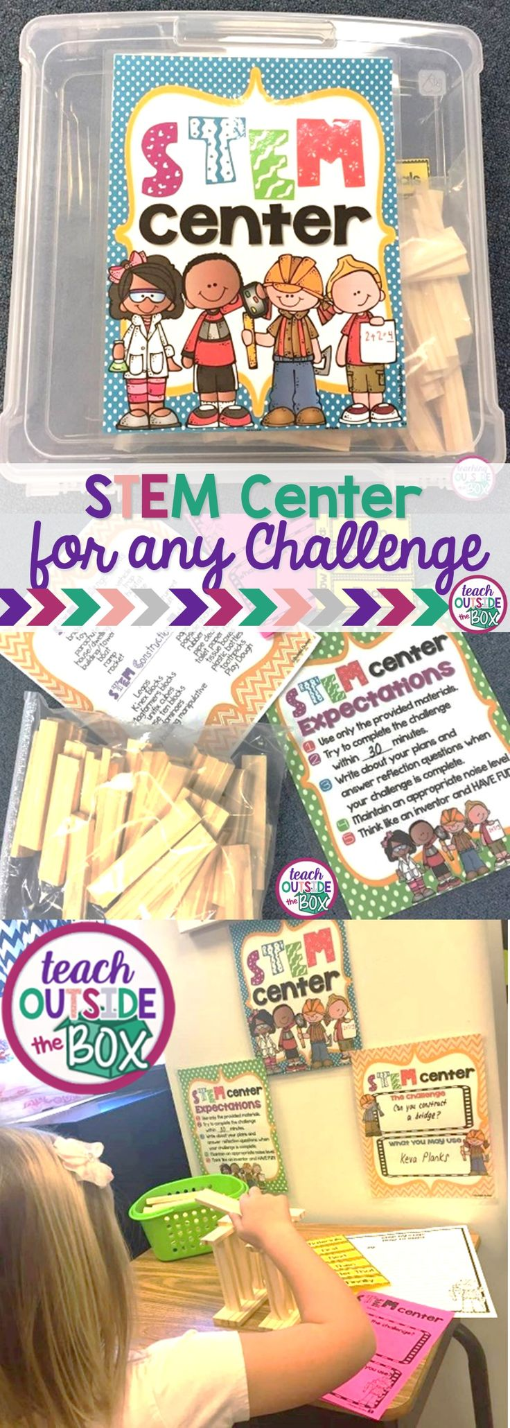 How to Set Up and Manage a Classroom STEM Center! | Work Stations | STEM Challenges