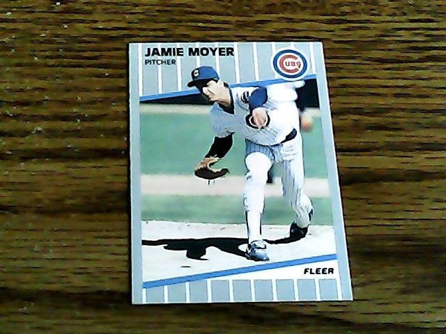 Fleer 1989 jamie moyer cubs card 432