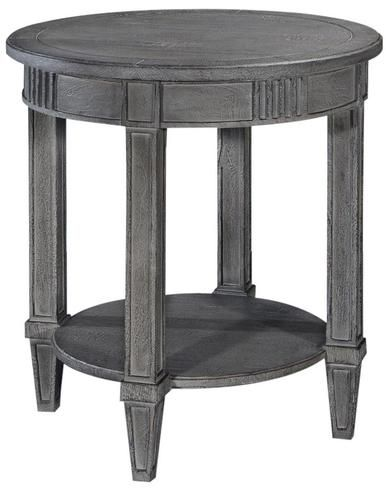 Lamp Table San Maria Louis XVI French Weathered Gray Solid Wood