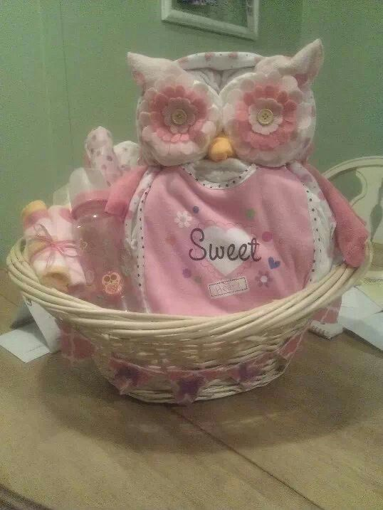 Baby Shaped Cake Images : Owl Shaped Diaper Cake--baby shower gifts Stuff I ve ...