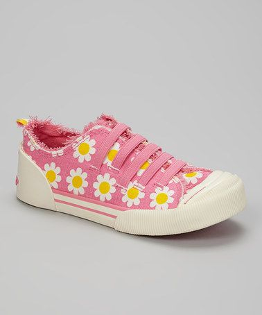 Another great find on #zulily! Pink Daisy Field Joint Sneaker by Rocket Dog #zulilyfinds