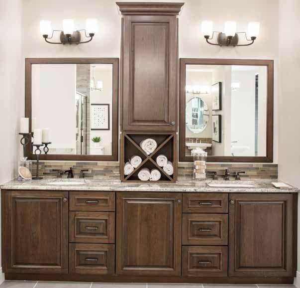 bathroom vanity cabinets walnut black glaze color on