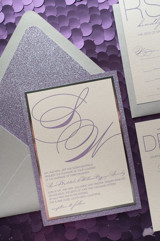 JESSICA Suite // STYLED // Fancy Glitter Package, elegant wedding invitation, lavender and silver wedding, glitter wedding invites, digital wedding invitations