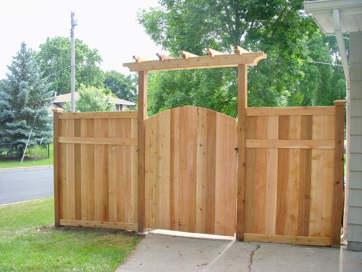 Again, double gate and slightly wider arbor @ for the side of the house next to the neighbor