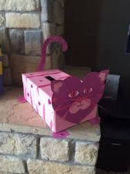 valentine shoe box cat