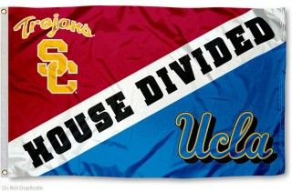 UCLA vs. USC House Divided Flag... Hayley at my beloved UCLA, Jennifer in the USC School of Cinematic Arts.... I am so very proud of both of my nieces!