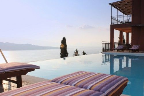 Luxury Lefkadas villas complex with breathtaking sea views