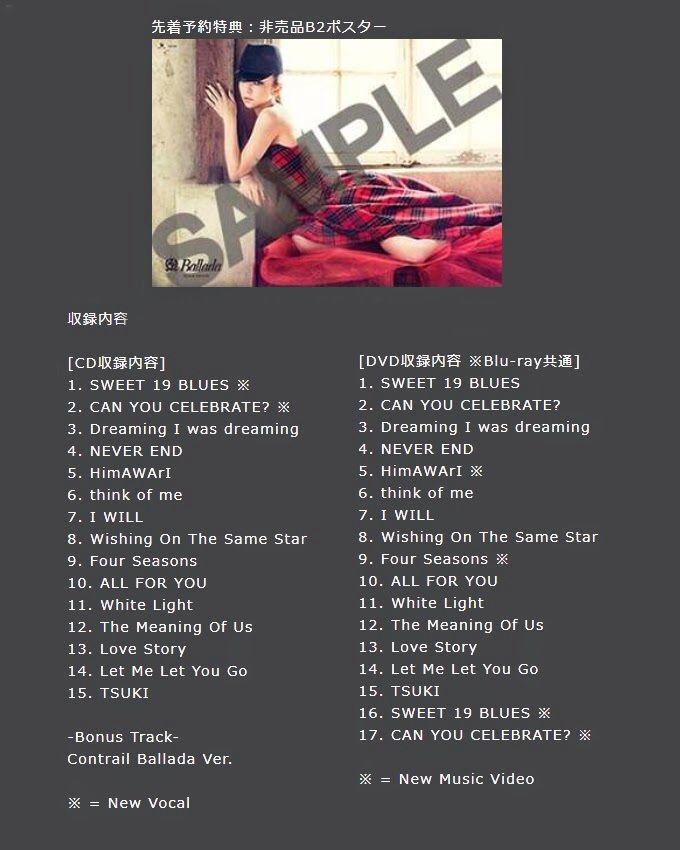 "Confirmed track list for new album ""Ballada""."