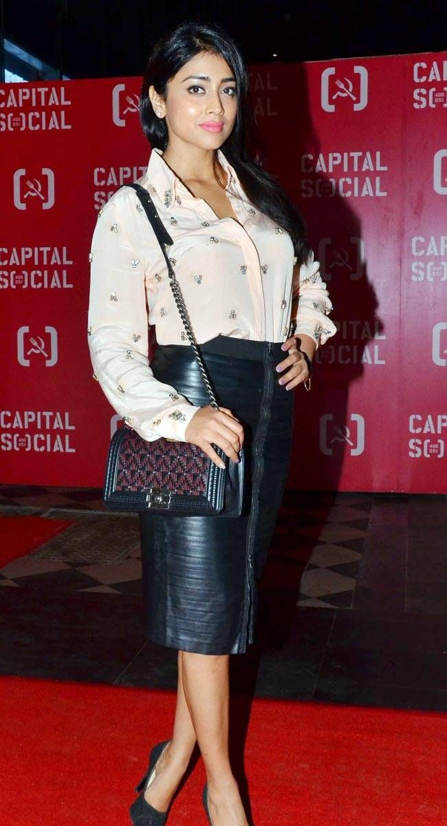 Shreya Saran at the launch of Capital Social, Mumbai. #Bollywood #Fashion #Style #Beauty #Hot #Sexy