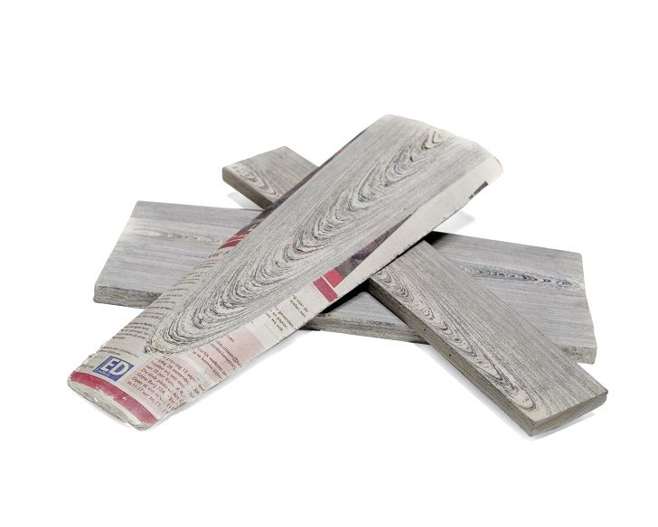 What is newspaper wood? We are used to think that wood is a source for paper manufacturing and not the other way around. But what if #newspaper #wood #furniture