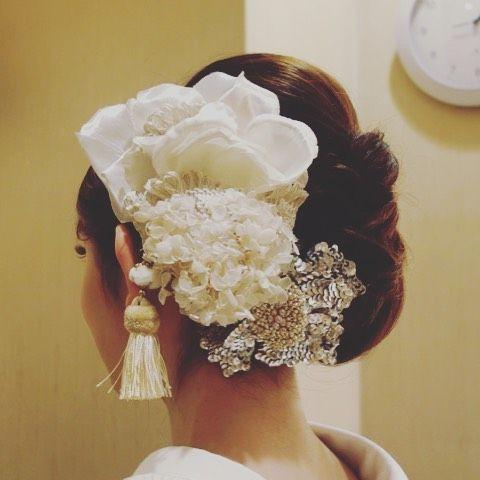 和洋まぜこぜ雰囲気が可愛い♡和婚にぴったりの洋髪花嫁ヘアまとめ* | marry[マリー]