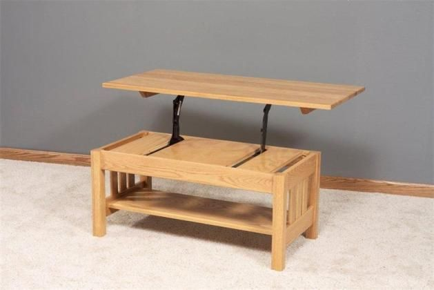 Free coffee table blueprints woodworking projects plans for Lift top coffee table building plans