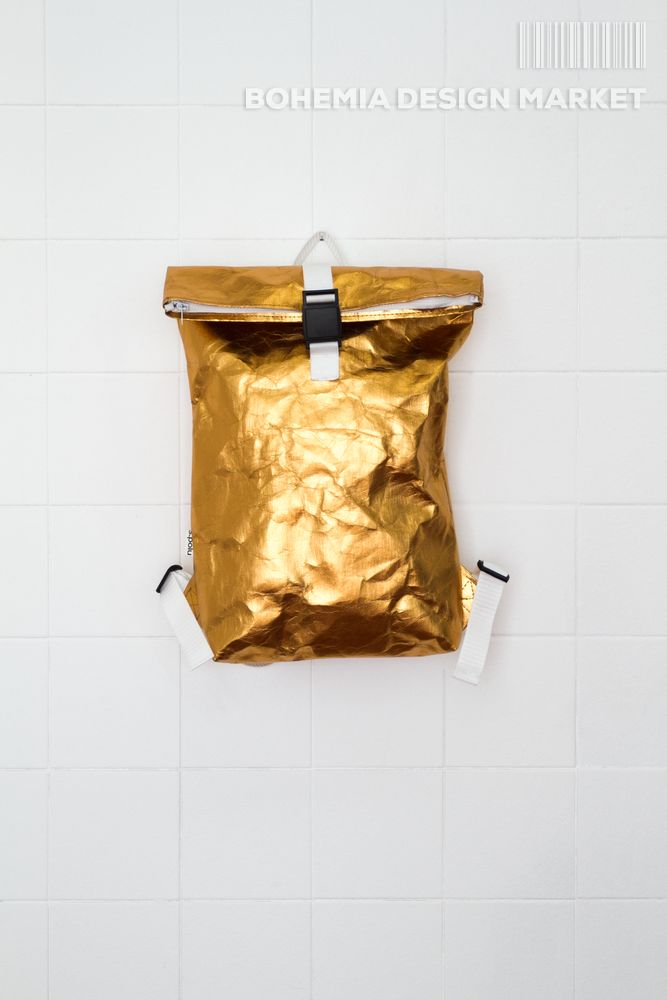 #original #local #design #handmade #eco #vegan #golden #backpack