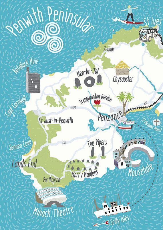 Bildergebnis Fur Karte Sudengland Illustrierte Karten