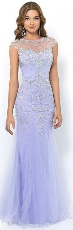 Fitted Scoop Tulle Terrific 2015 Prom Dress on Luulla