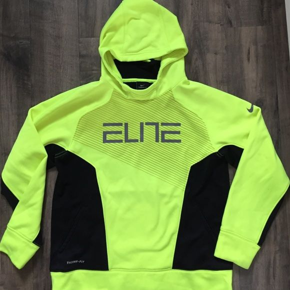 Boys Nike Elite Hoodie sz Lg. Excellent condition!  My son only wore this a few times.  There is a faint spot on the back of the right arm ( I'll post in pics). NO TRADES Nike Tops Sweatshirts & Hoodies
