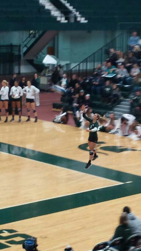 I want to play college volleyball for Michigan state and i want my coach to be the current head coach Cathy George because shes an amazing coach!!!
