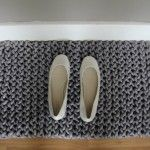 knit doormatHandknit Ropes, Contemporary Doormat, Slip Stitches, Knits Doormat, Hands Knits Ropes, Diy, Knits Knits, Knits Rugs, Ropes Rugs