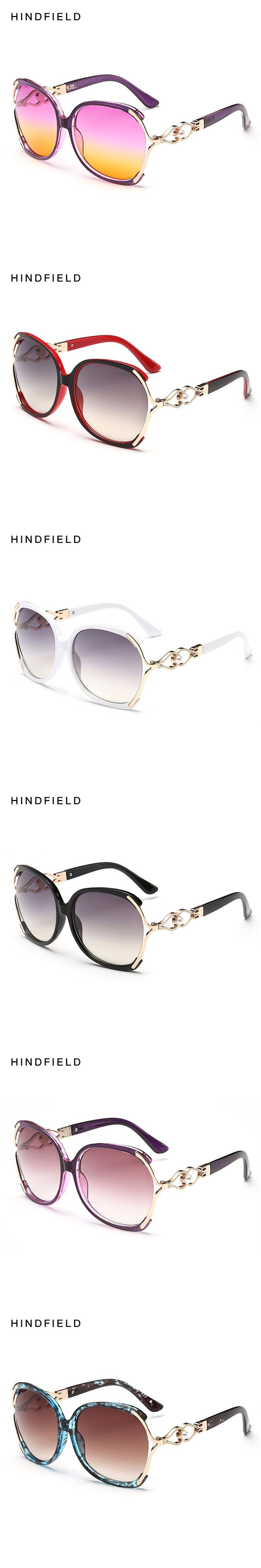 2017 Women Polarized Sunglasses Retro Big Round PC Frame Brand Design Black Sun Glasses Luxury Ladies Driving gafas de sol mujer