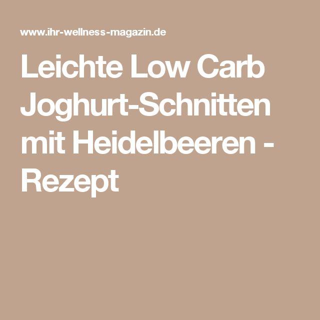 Leichte Low Carb Joghurt-Schnitten mit Heidelbeeren - Rezept