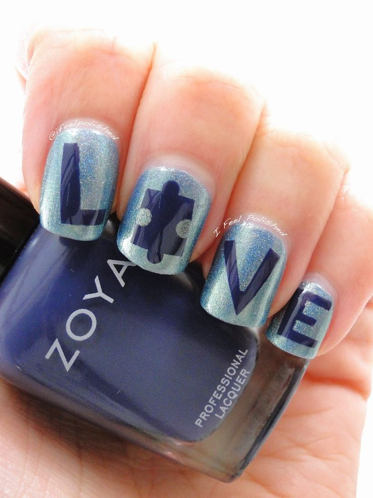 276 best blue nail swatches autism inspired nail art images on autism awareness nails prinsesfo Choice Image