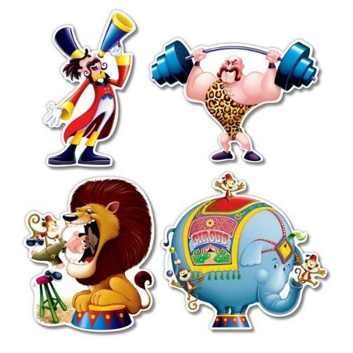 Circus Cutouts Party Accessory (1 count) (4/Pkg) by Beistle Company, http://www.amazon.com/dp/B002RYU16A/ref=cm_sw_r_pi_dp_DGaksb1SMTZS0