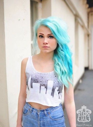 Cutefash hair fashion feeling blue fashion teen Cute teenage girls pics