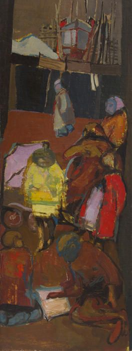 Shipbuilder's Street, c. 1951, OIl on canvas, Joan Eardley - The Scottish…