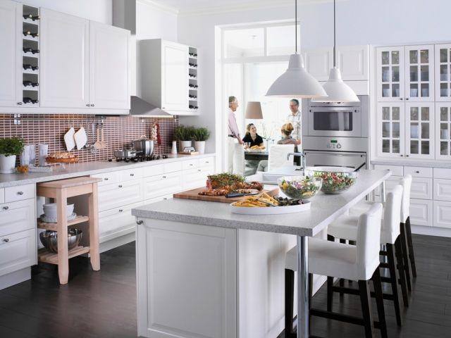 fold farmhouse open floor decor | Kuchenna wyspa czy półwysep? Aranżacje kuchni z wyspą