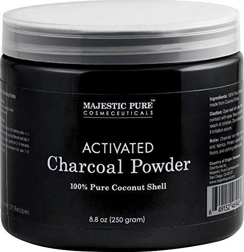 Activated Charcoal Powder from Majestic Pure from 100% Pure Coconut Shells 8.8 oz