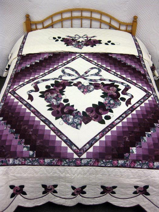 80 best Amish Quilts images on Pinterest | Ideas, Heart and Heart ... : quilts for sale handmade amish - Adamdwight.com