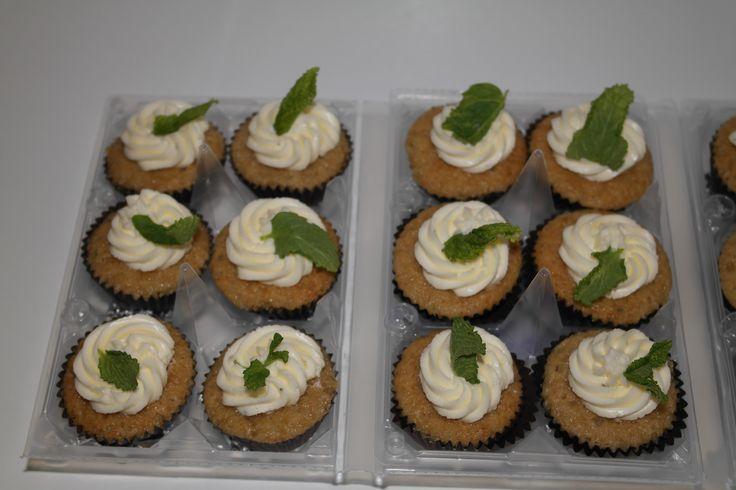 Deliciosos minicupcakes de mojito.