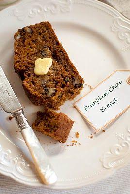 pumpkin chai bread.. interesting twist to impress at your next tea party