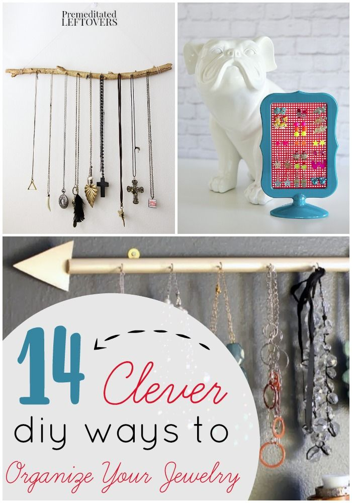 14 DIY Jewelry Organizers- Keep your jewelry tidy and untangled with these homemade organizing solutions. You'll love how fun and frugal these projects are!