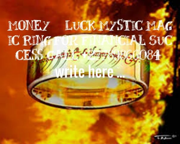 Check out my new PixTeller design! :: Money luck mystic magic ring for financial success call +277...