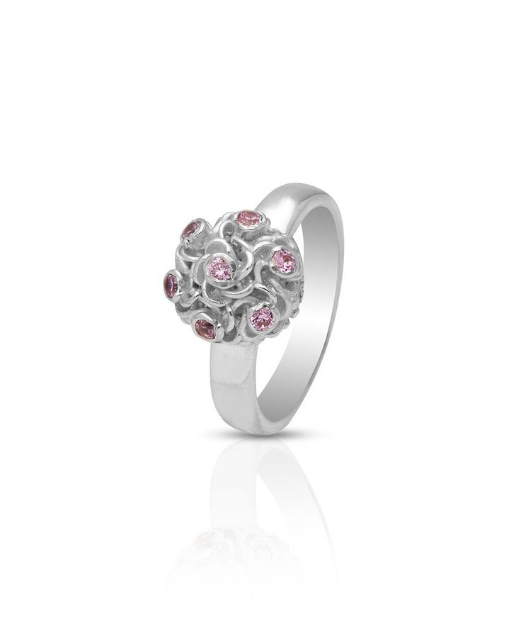 Kylie Pink Posy Ring