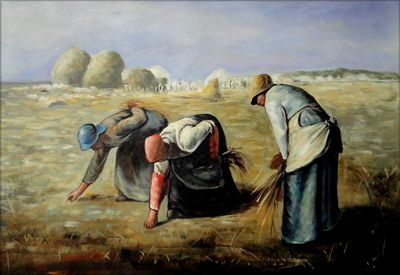 Artwork by Jean Francois Millet - The Gleaners, | Painting ...