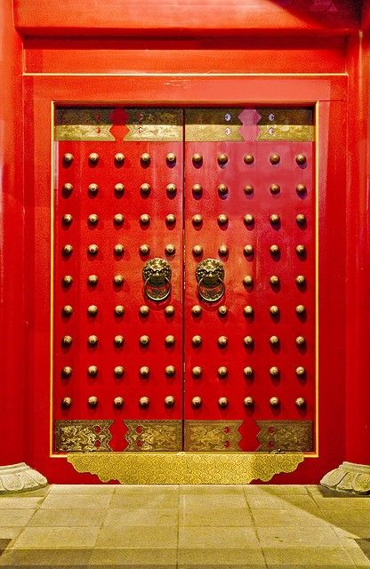 That Red Chinese Door By Alvin